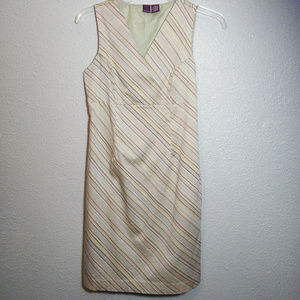 Merona size 6 Tan Stripe sleeveless dress Womens